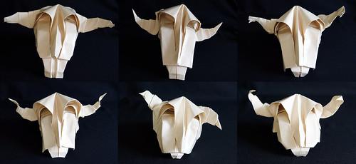 Origami Cow's skull (Román Diáz)