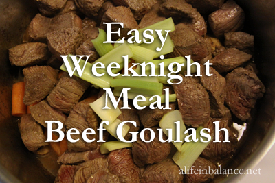 Easy Weeknight Meal Beef Goulash