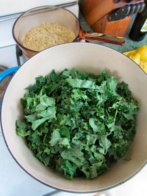 Saute Chopped Kale
