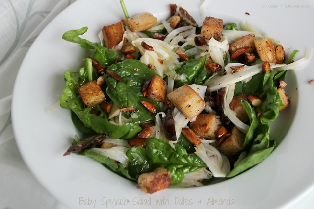 Baby Spinach Salad with Dates & Almonds 3