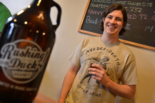 Dan Hitchcock of Rushing Duck Brewery