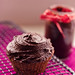 Chocolate cupcake with avocado chocolate frosting