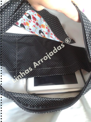 Saco para pc, e tablet by Linhas Arrojadas Atelier de Costura ® Trademark
