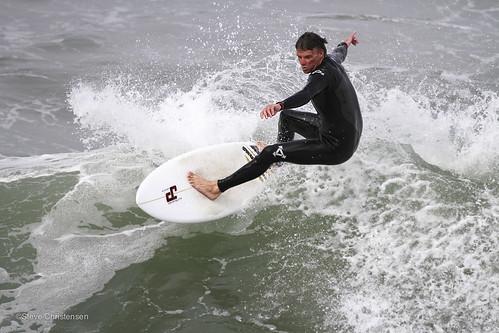 Surfing in Venice Beach: 4-18-13