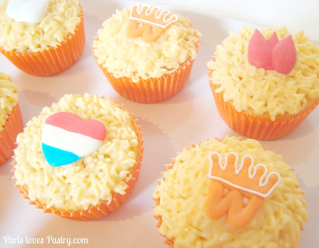 橙色女王's Day Cupcakes