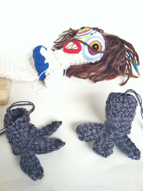 Lady Monster feet WIP by Knot By Gran'ma
