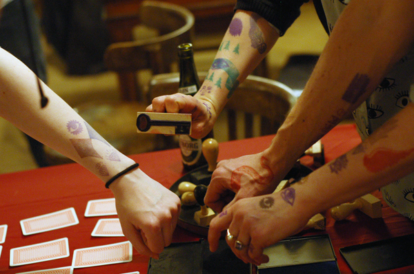 a secret club's Tattoo Salon