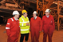 Edward Davey at BiFab in Fife