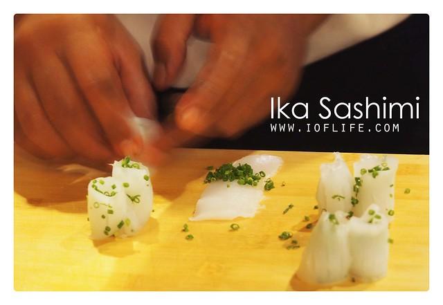 Ika sashimi prep umaku