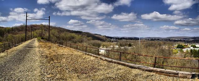 Abandoned Philadelphia and Thorndale Line Trestle
