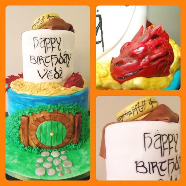 Hobbit Themed Birthday Cake by Rachel Hernandez