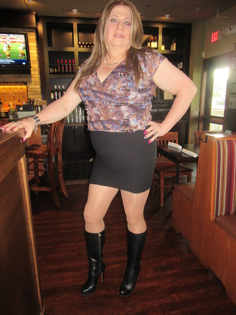 Boots and my mini skirt