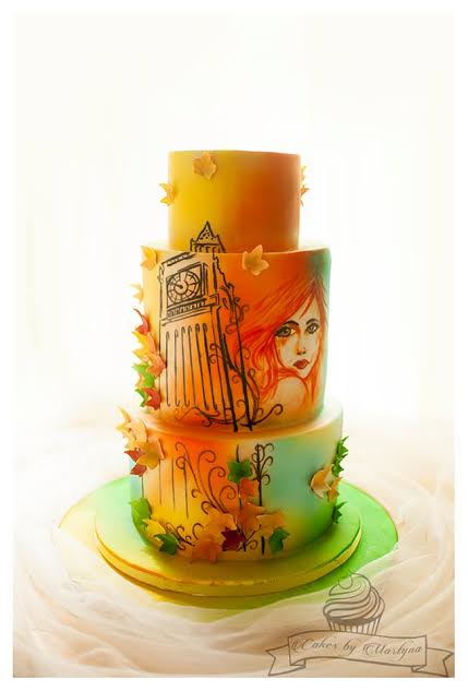 Hand Painted Cake – Inspired by Cakes en Vogue Paris Theme Cake from Martyna Płoskonka