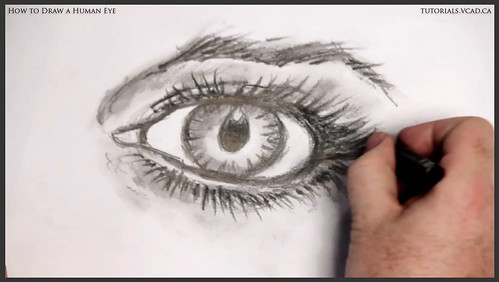 learn how to draw a human eye 030