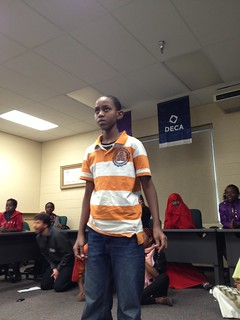 Student Aden in poetry slam