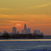 Cleveland skyline at sunset by wcw1940