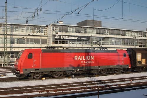 DB Logistics class 185 locomotive 185 303 at Regensburg Hbf
