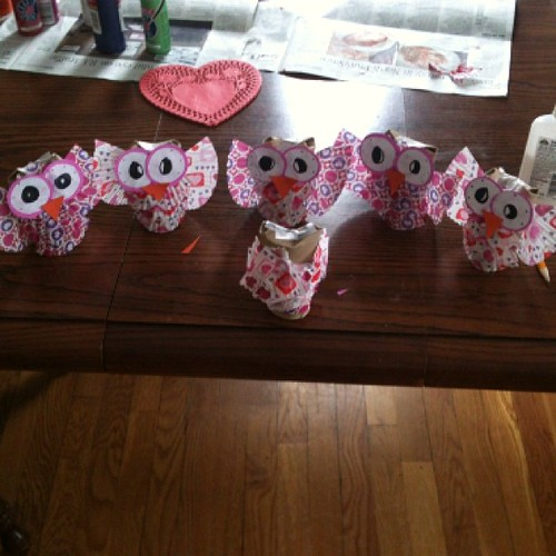Valentine Owls. The one in the front is Marie-Therese's
