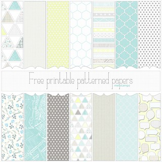 Love Graphics - free printable digital patterned paper set PREVIEW