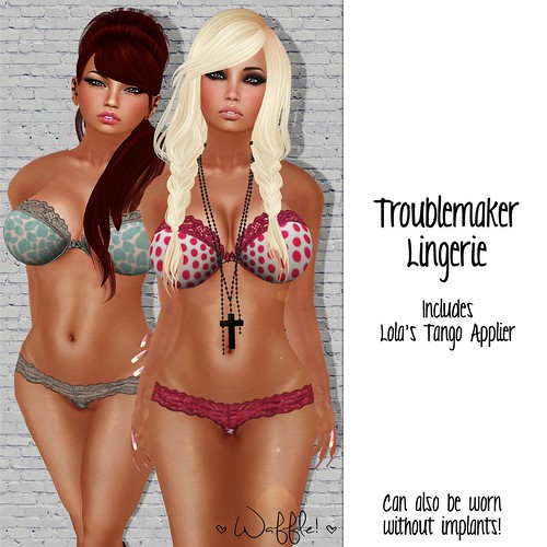Troublemaker Bra & Panty Set by Kiki Paine <3