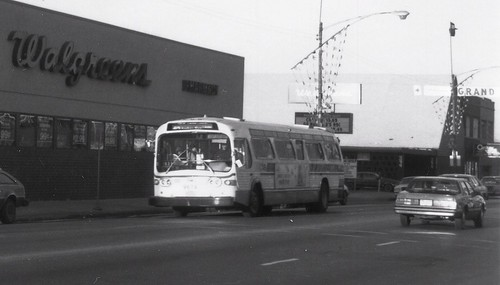 Westbound Chicago Transit Authority Rt # 62 Archer / Harlem bus.  Chicago Illinois.  December 1989. by Eddie from Chicago