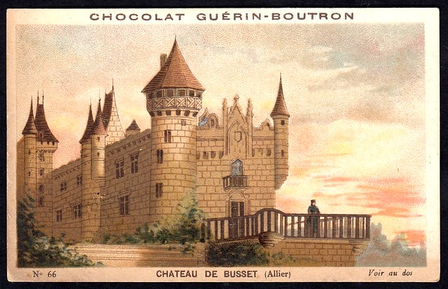 French Tradecard - Chateau de Busset