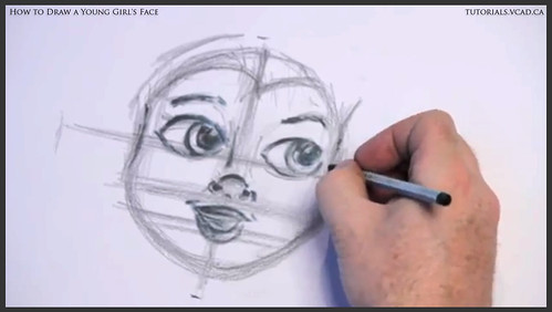 learn how to draw a young girls face 012