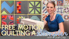 free motion qilting a sampler with leah day