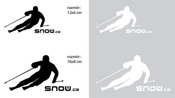 Samolepka lyžaře SNOW