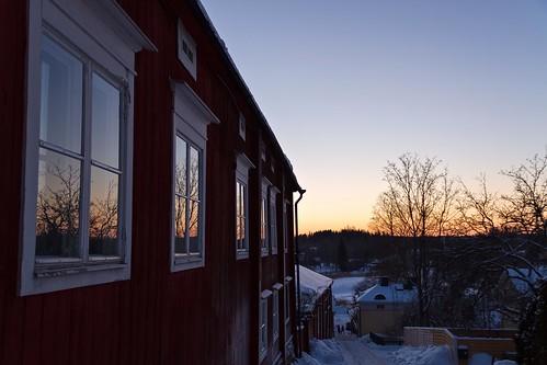 trees windows sunset sky house finland evening january reflected porvoo 2013 canoneos7d adobelightroom4 me2youphotographylevel1