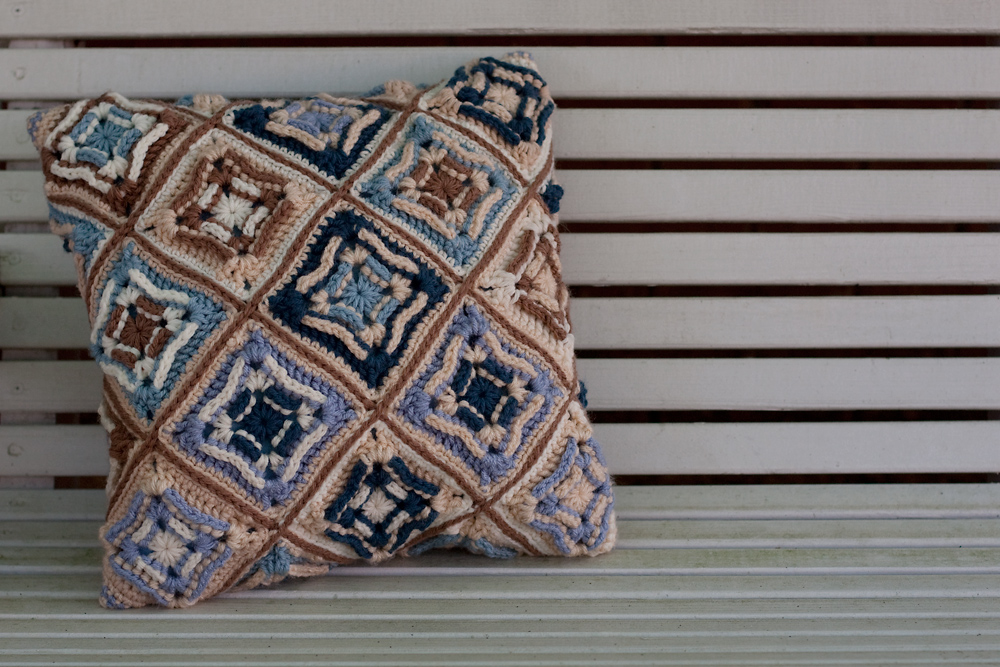 45/365 - Crocheted Pillow Cover