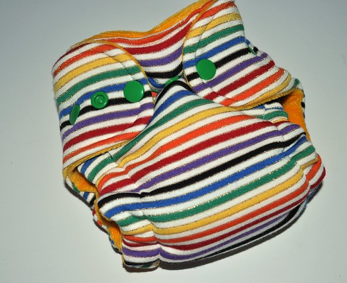 Bumstoppers Newborn  Shimmer  Rainbow Hybird Fitted **New Style**
