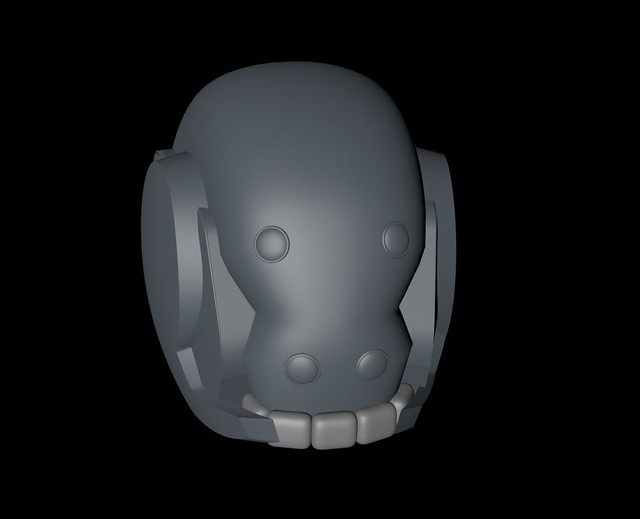 first pass helmet render