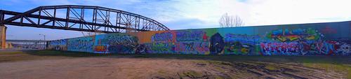 St. Louis Graffiti Wall Panoramic by DisHippy