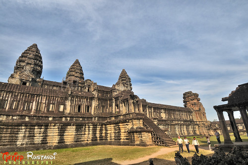 Angkor Wat's five central shrines