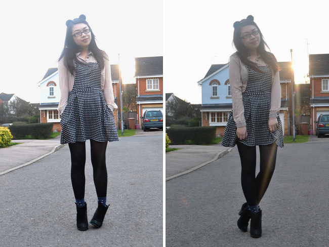 daisybutter - UK Style and Fashion Blog: what i wore, pinafore dress, high street fashion, SS13