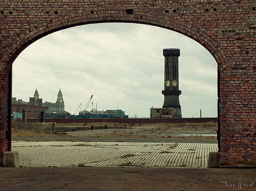 Liverpool View from West Bramley Moore Dock Warehouse