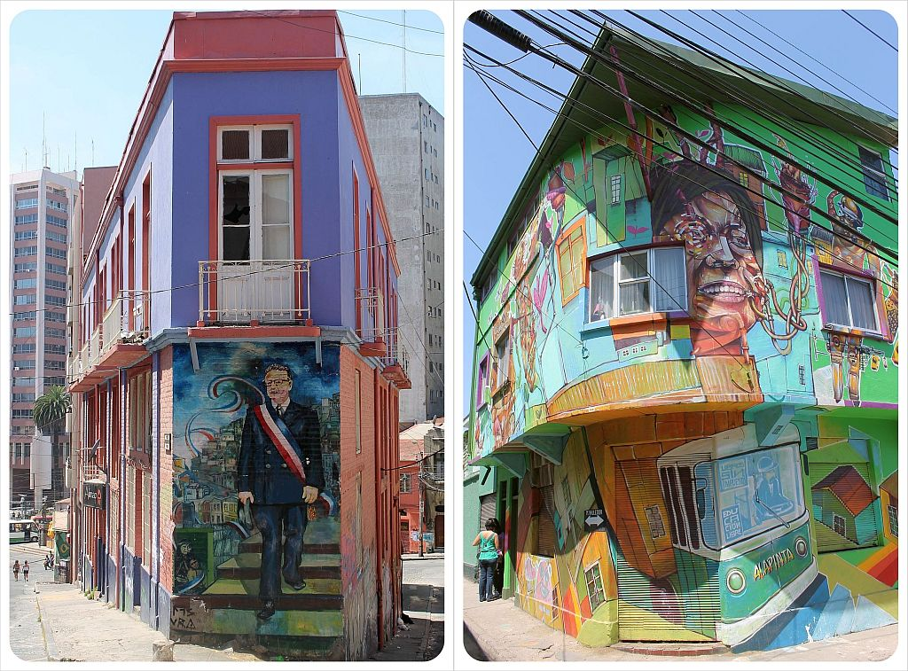 valparaiso street art buildings