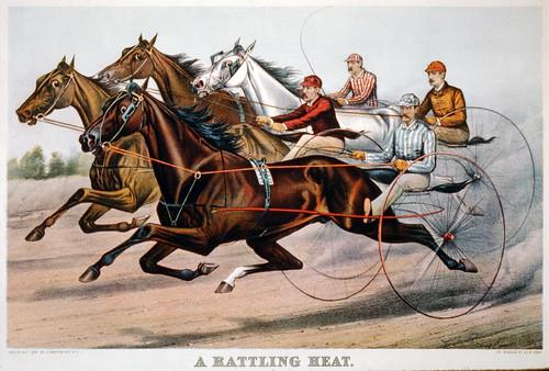 011-Imagen carreras caballos trotones-Library of Congress