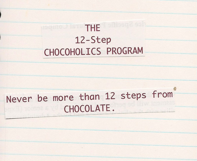 12-step Chocoholics Program