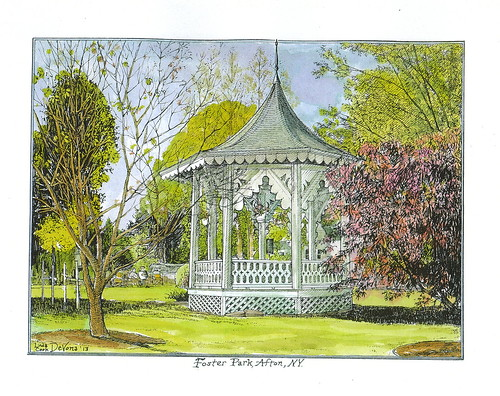 Afton gazebo, color, 2013