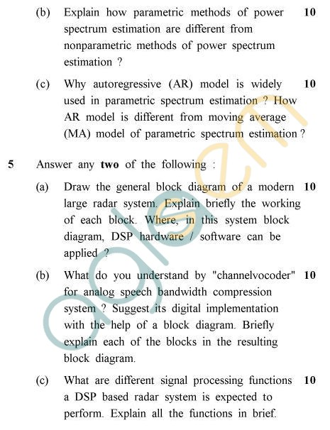 UPTU B.Tech Question Papers - EC-801 - Digital Signal Processing