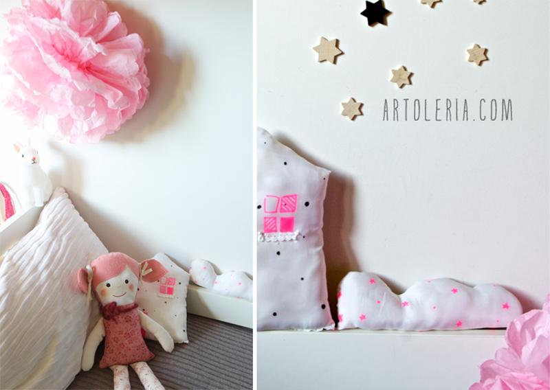 Cameretta grigio e rosa