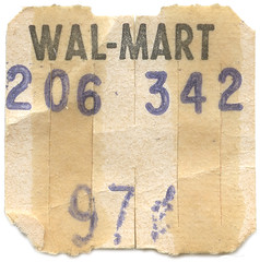 Wal-Mart Price Sticker