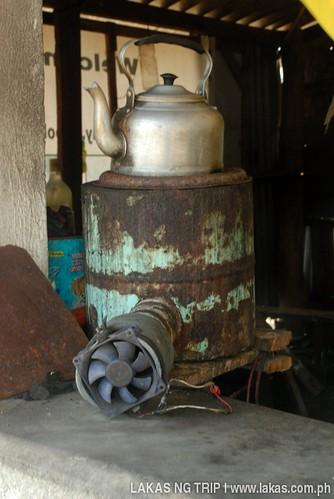 Peculiar stove at Brooke's Point Lighthouse, Palawan