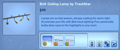 Bolt Ceiling Lamp by TrackStar
