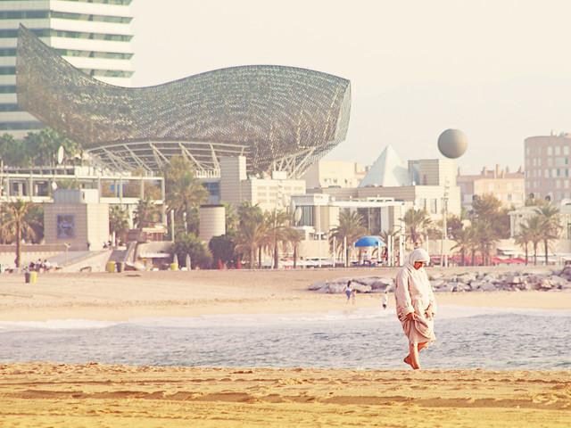 Caminante de la playa