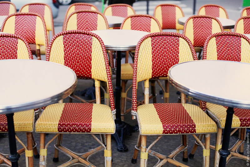 Colourful Chairs in Paris
