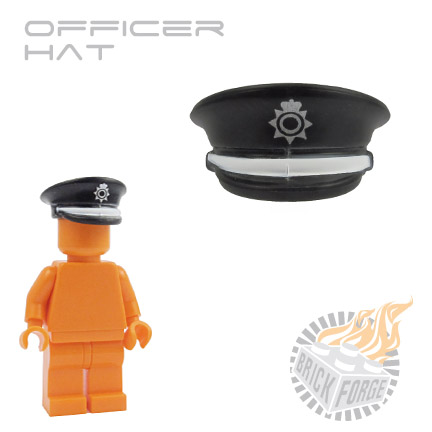 Officer Hat - Black (UK Metro print)