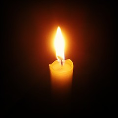 candle, yellow, light, darkness, flame, lighting,